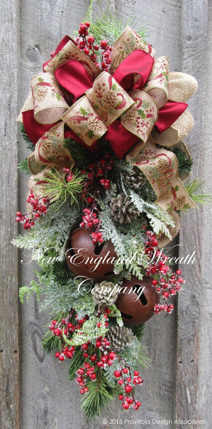 Christmas Swag Holiday Wreath Frosted Pine Swag