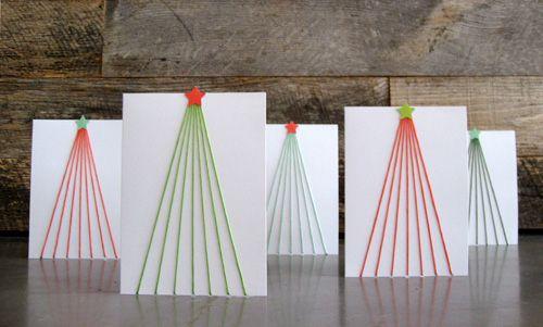 Thread Christmas tree Gloucestershire Resource Centre http://www.grcltd.org/scrapstore/