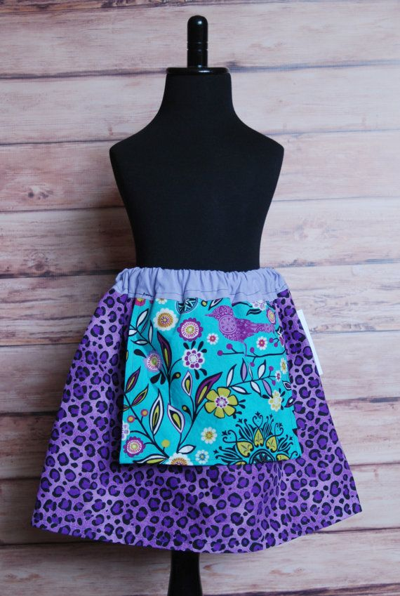 Purple leopard apron skirt twirl fun bright by LittleDivasnDudes, $20.00