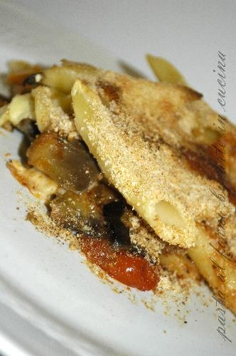 Pasta al forno con melanzane a funghetto
