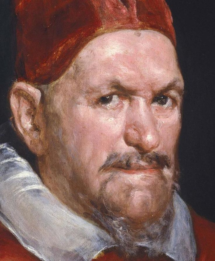 Pure innocence in his eyes...Portrait of Pope Innocent X (detail), 1650 // by Diego Velazquez.