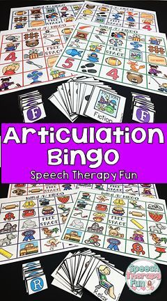Articulation Bingo is a great way to keep your students motivated during speech therapy! 10 different  sounds!