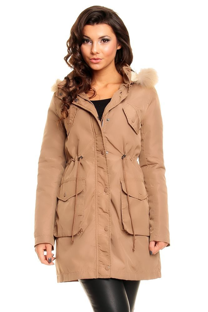 Winterjacke parka damen fell