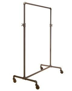 Industrial adjustable Clothing Rack, Rolling Clothes Rack, Pipeline adjustable single rack, Clothes rack - Home - Retail Display
