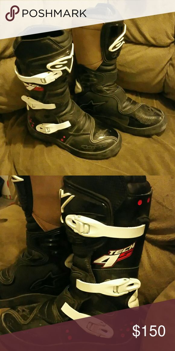 Alpine Star dirt bike boots Super cute Super comfy I only rode with them twice AlpineStars Shoes Combat & Moto Boots