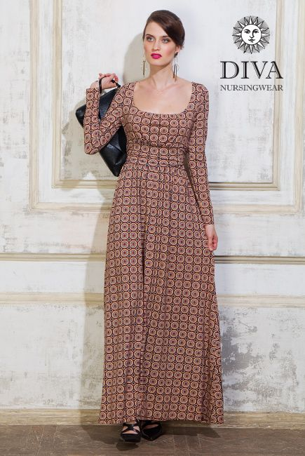 Luxury Diva Maternity and Nursing Dress Stella. Enjoy the privilege of being a nursing mom at a party! Free shipping in Canada and worldwide!