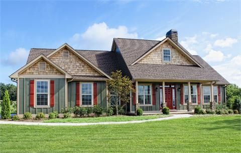 The glenridge d house plan for gainesville ga plans for Custom home builders gainesville ga