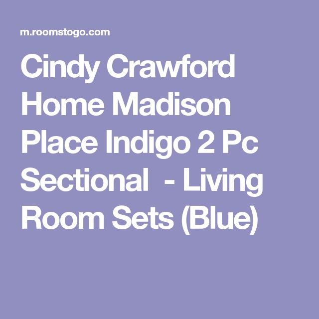 Cindy Crawford Home Madison Place Indigo 2 Pc Sectional-Living Room Sets (Blue)