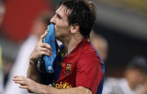 lionel messi celebration in final champions league