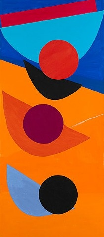 Sir Terry Frost (1915-2003) was an English artist noted for his abstracts. Started painting while a prisoner of war in Germany 1943. Moved to St Ives 1946 and studied under Leonard Fuller; then studied from 1947 at the Camberwell School of Art under Pasmore and Coldstream. In 1992, he was elected a Royal Academician and he was knighted in 2000.