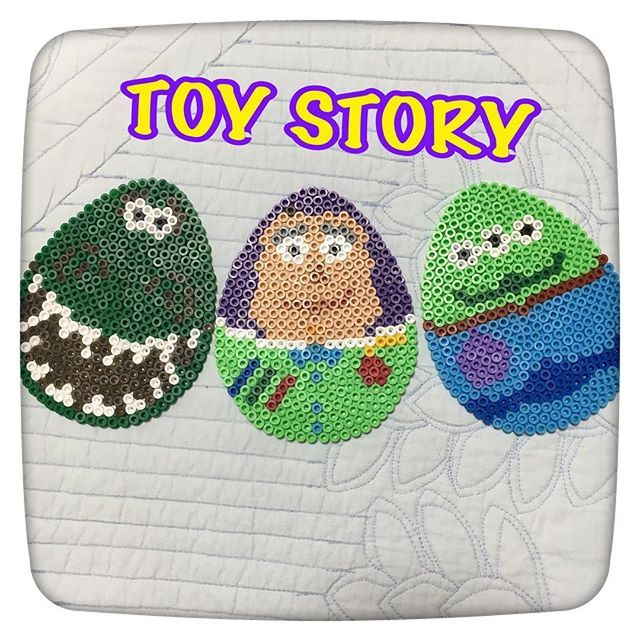 Toy Story Easter eggs perler beads by _beads.collection