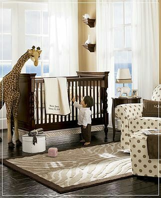 Nursery idea...love the dark wood