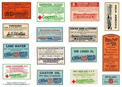 Free apothecary label download: Vintage Labels, Medical Party, Free Digital, Apothecary Labels, Freeprintable, Party Theme, Free Printables, Hand Towels, Digital Downloads