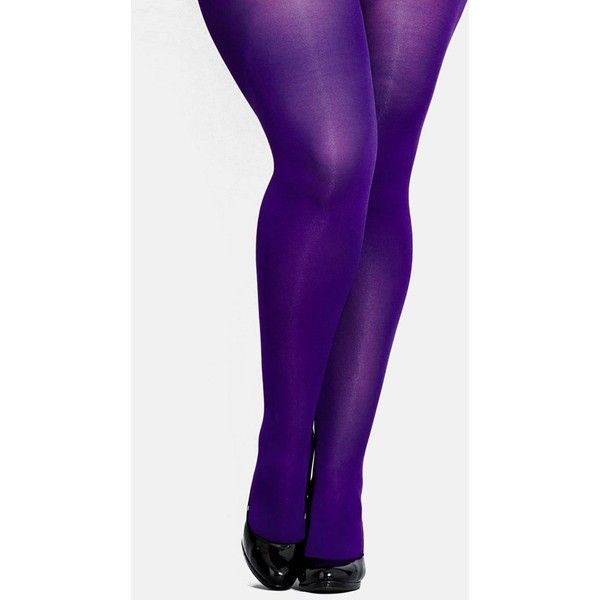 Plus Size Women's City Chic Opaque Tights (760 RUB) ❤ liked on Polyvore featuring intimates, hosiery, tights, stockings, plus size, opaque hosiery, plus size women in pantyhose, plus size stockings, opaque stockings and plus size pantyhose
