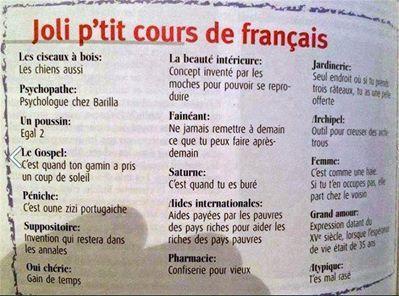 Joli p'tit cours de français
