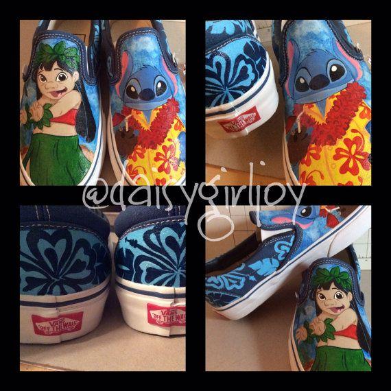 2aa4b06d6d3b Custom hand painted Disney Lilo   Stitch Vans by DaisyGirlJoy ...