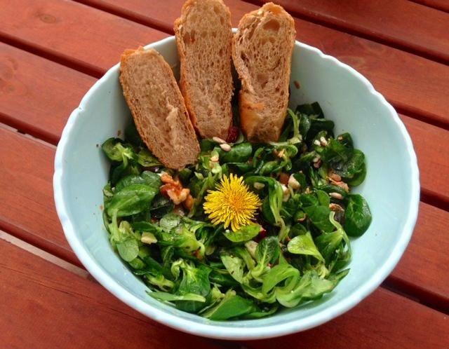 Kozlíček polníček je salát podobný chutí hlávkovému salátu. Je ale mnohem bohatší na vitamíny, obsahuje vitamíny C, A, E a také betakaroten. I jeho chuť je výraznější. Z minerálních látek obsahuje železo, hořčík, draslík, vápník a kyselinu listovou. Jeho konzumací podpoříte krvetvorbu a posílíte imunitu. Udělejte si skvělý salátek! Tento recept na salát je ze samých zdravých a tělu i duši prospěšných surovin.