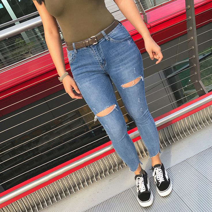 Barato Jeans rasgado Para As Mulheres Skinny Jeans Capri Tornozelo Comprimento Jeans Vaqueros Mujer Femme Stretchy Calças Jeans Femininas Calças Lápis Slim, Compro Qualidade Calças de brim diretamente de fornecedores da China: Jeans rasgado Para As Mulheres Skinny Jeans Capri Tornozelo-Comprimento Jeans Vaqueros Mujer Femme Stretchy Calças Jeans Femininas Calças Lápis Slim