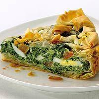 Recept - Knapperige ei-spinazietaart - Allerhande