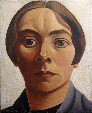Charley Toorop, Zelfportret, 1928, olieverf op doek, 33 x 27 cm. Collectie Museum Boijmans Van Beuningen, Rotterdam