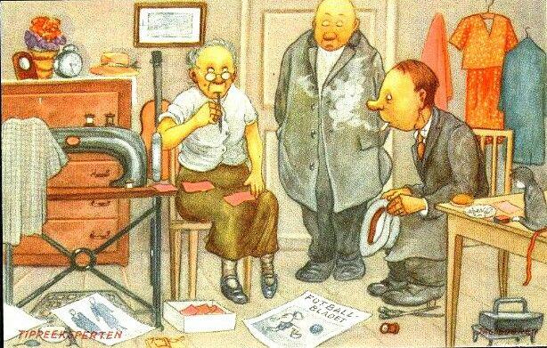 Humorkort Jac. Edgren - Tippeeksperten Utg Mittet