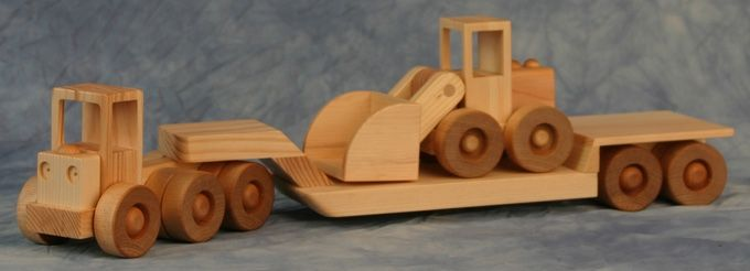 Construcion Series Tractor com Lowboy e Payloader Combo