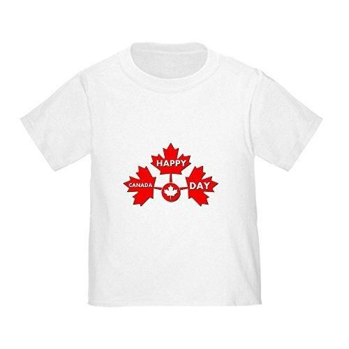 CafePress canada day Toddler T-Shirt - 4T White