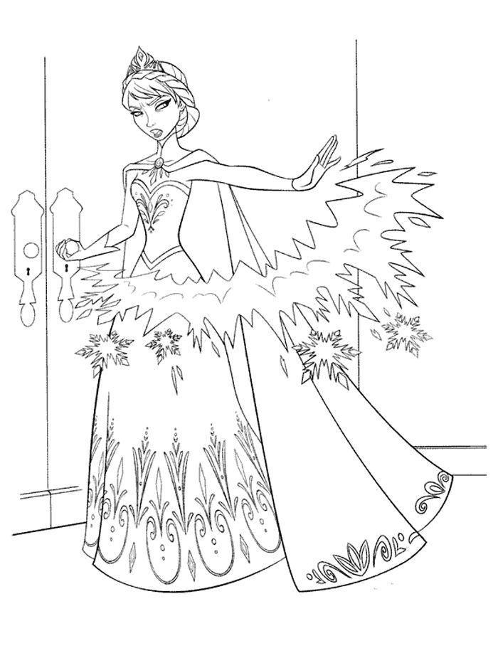 Page Et Elsa - Free anna and else coloring pages