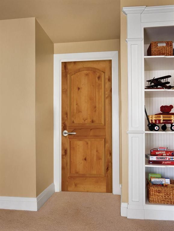 Knotty alder ka it has the strength of maple and the for Yellow pine wood doors