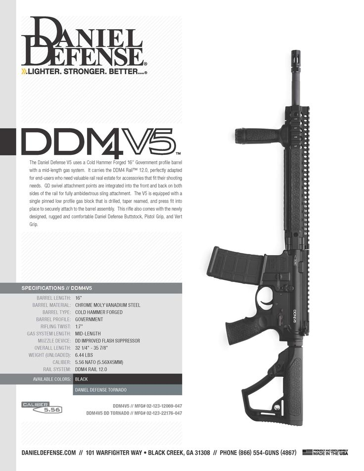Daniel Defense V5™ https://danieldefense.com/firearms/daniel-defense-m4-carbine-v5.html