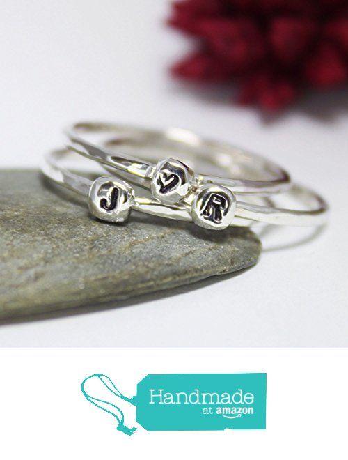 Tiny Initial Letter Ring, Personalized & Custom Ring, Statement Ring, Cute Custom Initial Letter Ring, Personalized Ring, Stacking Ring, Hammered Ring from rosajuri https://www.amazon.com/dp/B06WW851ZZ/ref=hnd_sw_r_pi_dp_Lli1ybVXANH9Q #handmadeatamazon