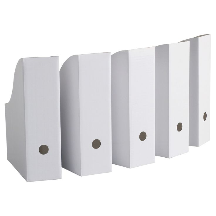 IKEA Magazine Storage Holder File White New 5 Pack FLYT in Home & Garden,  Household Supplies & Cleaning, Home Organization