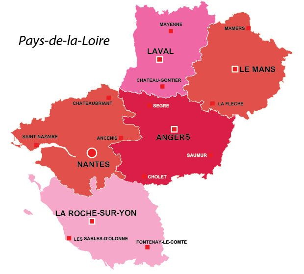 Pays-de-la-Loire region of France, all the information you need