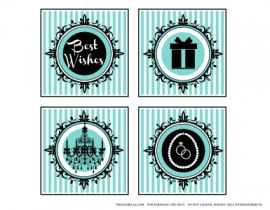 Tiffany's Banner Free Tiffany party printables, plus extras!