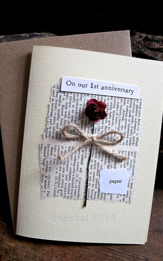 Romantic and understated. First Anniversary card. by ArtBySeezal
