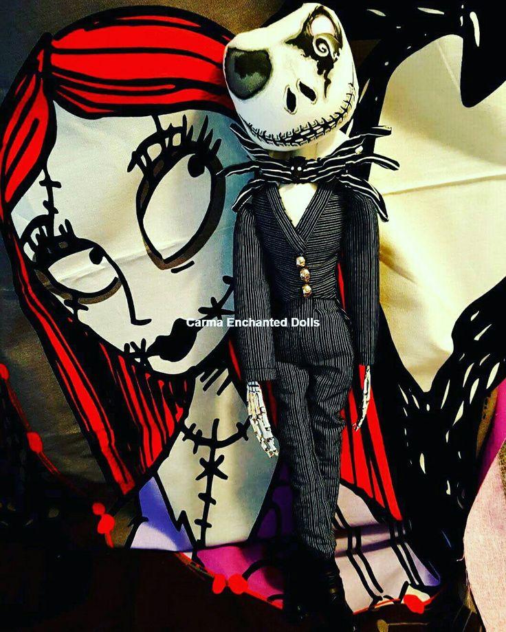 #carmaenchanteddolls #jack #nightmarebeforexmas #timburton #jackandsally #artdolls #doll #clothdoll