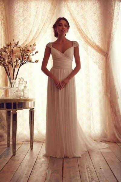Preciosa colección de vestidos de novia con estilo vintage de la firma de moda nupcial Anna Campbell.