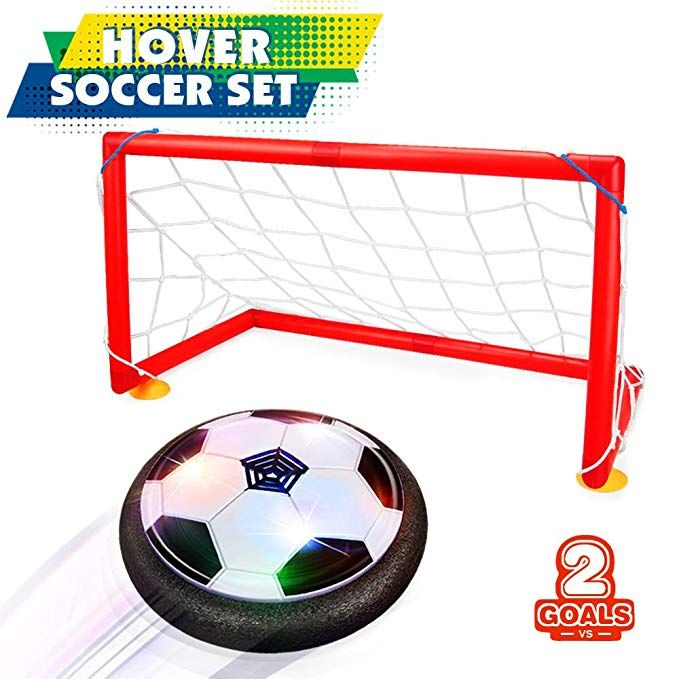 Betheaces Kids Toys Hover Soccer Ball Set 2 Goals Gift Football Disk Toy Led Light Boys Girls Age 2 3 4 5 6 7 8 16 Soccer Ball Best Kids Toys Football Gifts