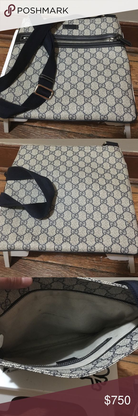 AUTHENTIC Limited crossbody Gucci messenger bag I purchased this at Saks fifth Avenue this was part of their coated canvas collection it's technically a men's messenger bag it does come with the dust bag. I believe they keep their records at Saks so you can just give them my information and I could pull it up if you really want the purchasing info Gucci Bags Crossbody Bags