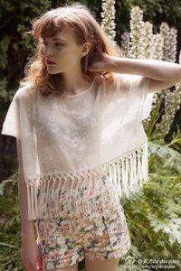 蝴蝶公主的假期  透明上衣+花短裤 一套拍两个的图片