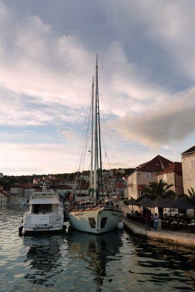 yacht and ship, Brač, Croatia