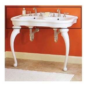 Parisian Pedestal Double Sink Console Upstairs Bathroom