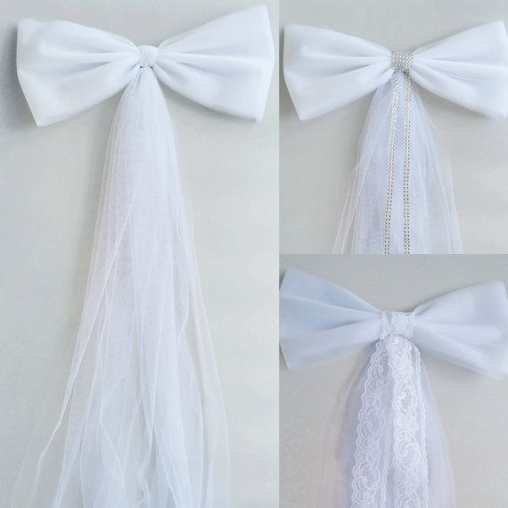 White Tulle Pew Bow Church Aisle Decor by DarlingChicDesign
