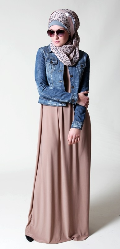 Beige with Jeans Jacket