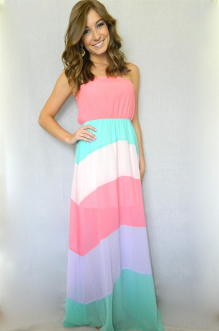Pretty in Pastels Maxi Dress | Girly Girl Boutique