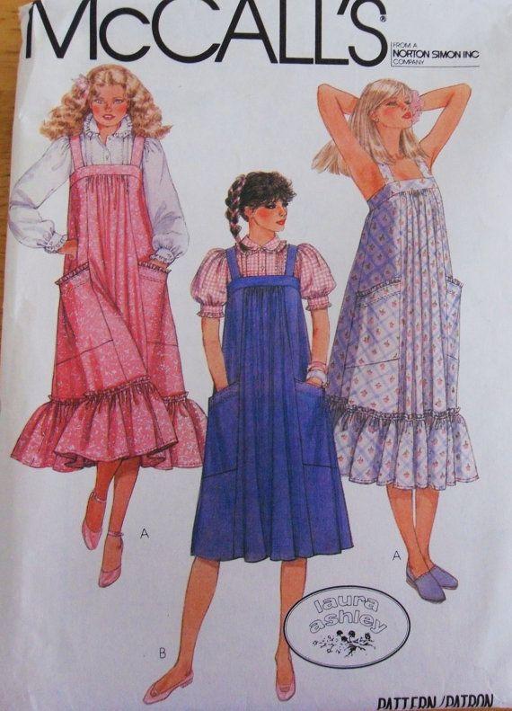 1980s laura ashley dress patterns | LAURA ASHLEY 7956 McCalls Misses Pattern UNCUT / 1980s Blouse ...