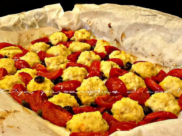 Polpette di ricotta al cartoccio con pomodorini, ricetta