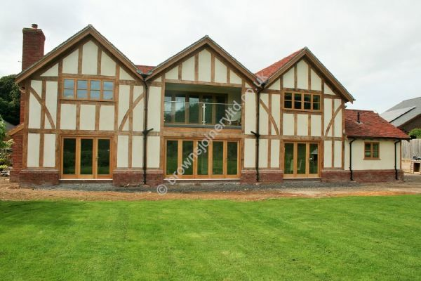 Oak Windows in a Border Oak house, supplied by www.brownsjoineryltd.co.uk