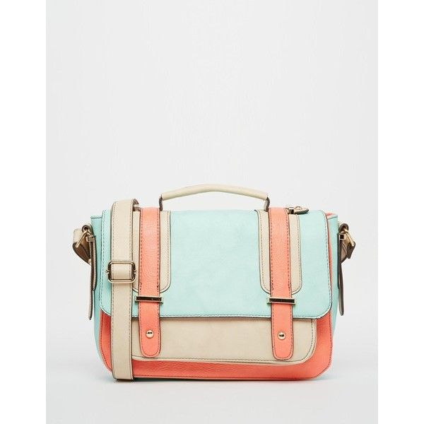 Oasis Suzy Color Block Satchel ($51) ❤ liked on Polyvore featuring bags, handbags, satchel bags, satchel handbags, color block bag, oasis handbags and satchel purse