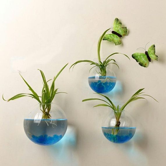 Set Of 3 Wall Bubble Terrariums Glass Wall Vase For Flowers Or House Plants Indoor Wall Gardening Decor Gift For Living Home Deoor Glass Flower Vases Hanging Flower Pots Glass Wall Vase
